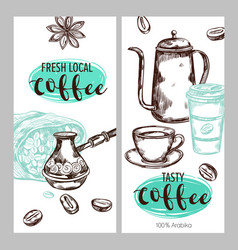 coffee packaging banner set vector image vector image