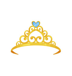 colorful of golden princess crown vector image