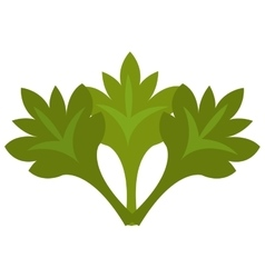 green tree leaves graphic vector image