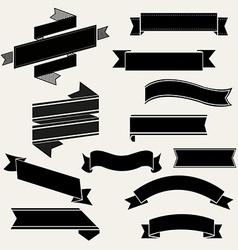 Retro Ribbon Set vector image vector image