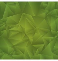 Abstract geometric triangle background green vector image