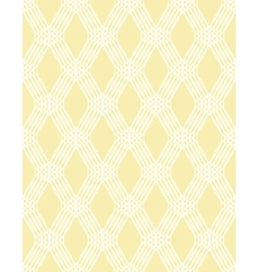 Abstract white line seamless pattern on yellow vector image