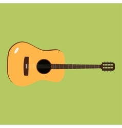 Acoustic guitar icon of the vector