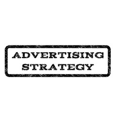 Advertising strategy watermark stamp vector