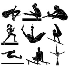 athletes in competitions girls sport vector image
