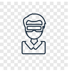 augmented reality concept linear icon isolated on vector image