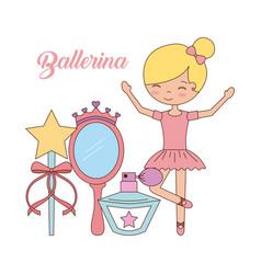 ballerina in dance for ballet school or studio vector image