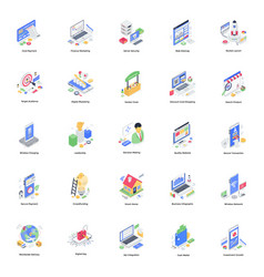 Banking transaction and business isometric illust vector