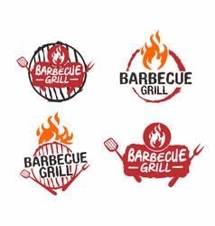 barbecue grill logo design vector image