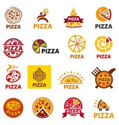 Big set logos pizza vector