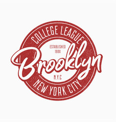 brooklyn vintage typography for slogan t-shirt vector image