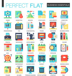 business essential complex flat icon vector image