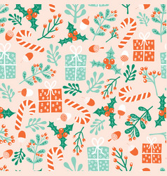 christmas holidays seamless pattern winter vector image