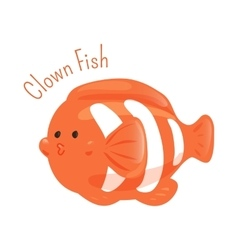 Clown fish Anemone Child fun pattern icon vector image