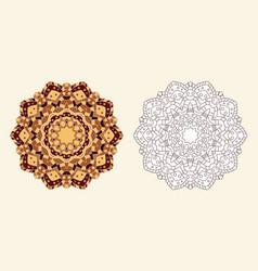 Coloring book entangle flower vector