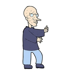 Comic cartoon mean looking man vector