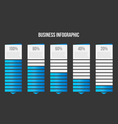 creative of columns bar chart vector image