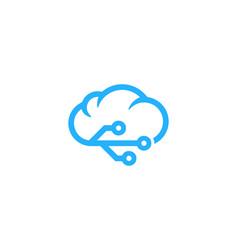 digital weather and season logo icon design vector image