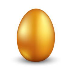 easter gold egg vector image