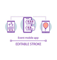 event mobile app concept icon organization idea vector image