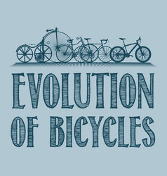 evolution of transport poster vector image