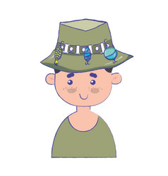 Fisherman with hat design and funny sport vector