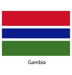 Flag of the country gambia vector