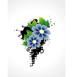 Flower artistic design vector