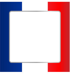 French flag symbolic frame vector