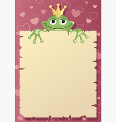 Frog prince letter vector
