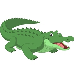 Funny crocodile vector