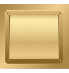gold metallic background vector image