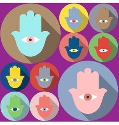 Hamsa symbol Evil eye vector