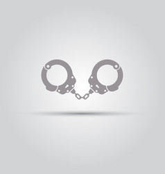 Handcuffs isolated icon vector