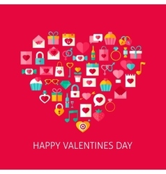 Heart Shape Valentines Day Objects vector image