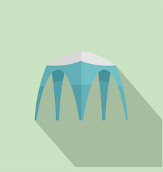 Hight tent icon flat style vector
