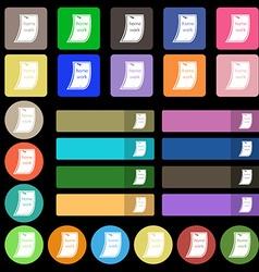 Homework icon sign Set from twenty seven vector
