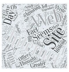 Internet Web Site Advertising Legendary Word Cloud vector