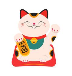 japanese maneki neko japanese symbol good luck vector image