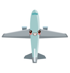 Kawaii commercial air shipping delivery vector