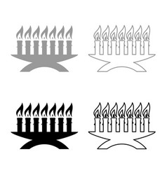 Kwanzaa candles glowing african holiday seven vector
