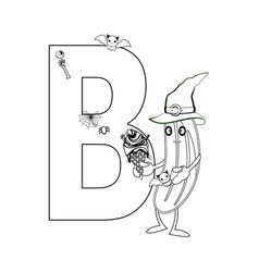 Letter b in the english alphabetcoloring vector