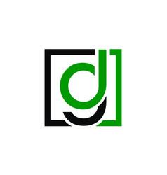Letter dg logo design template vector