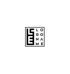Letter le logo design vector