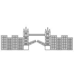 London bridge building urban city landmark vector