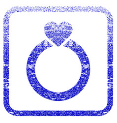 Love ring framed textured icon vector