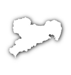 map of saxony with shadow vector image