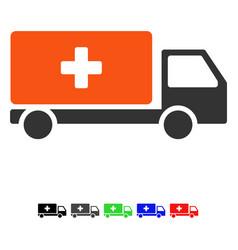 Medical shipment flat icon vector