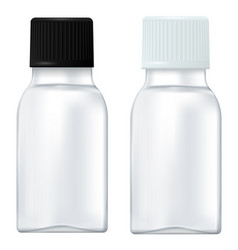 Medicine bottle small white bottle with plastic vector