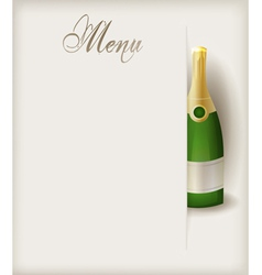 Menu vertical champagne vector